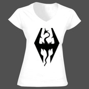 Skyrim - Softstyle™ women's v-neck t-shirt